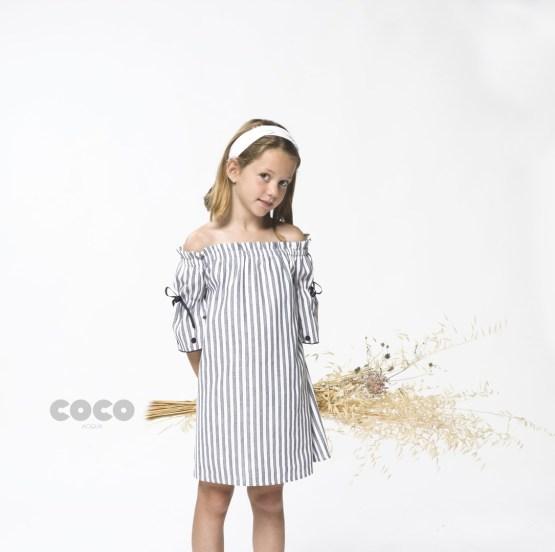 Catálogo Coco Acqua vestido rayas azules