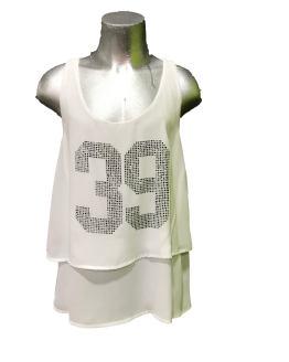 Jaimè blusa blanca 39 cristales
