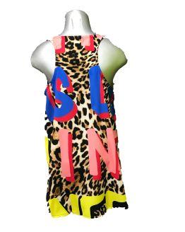 Espalda Jaimè vestido animal print y multicolor