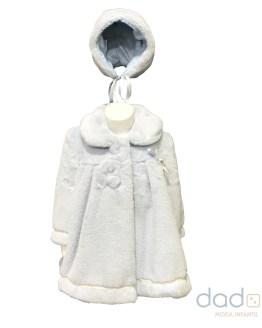 Marta y Paula abrigo bebé celeste con capota