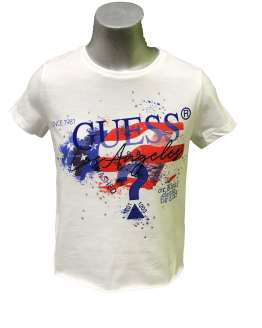 GUESS camiseta chica blanca bandera
