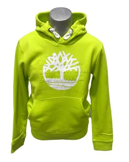 Timberland sudadera verde limón bolsillo y capucha