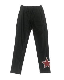 Monnalisa legging ecopiel elástico estrella
