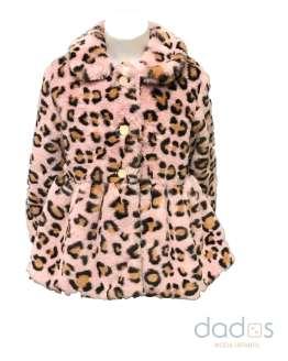 Marta y Paula abrigo pelo animal print