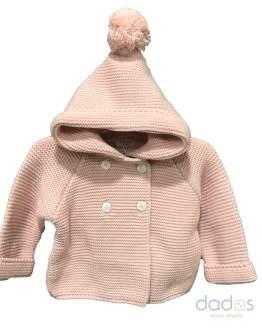 Micolino trenca bebé rosa