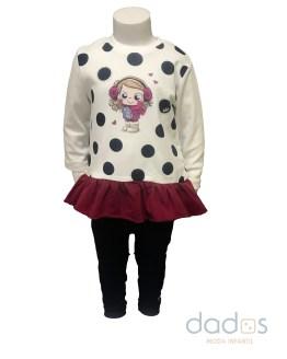IDO conjunto legging sudadera niña