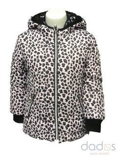 IDO chaquetón estampado leopardo reversible