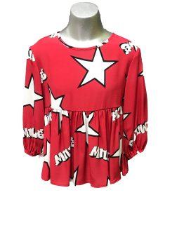 Monnalisa blusa roja estrellas