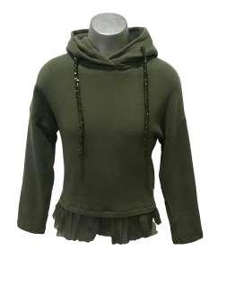 Elsy sudadera verde capucha
