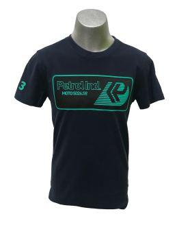 Petrol camiseta azul logo rectangular