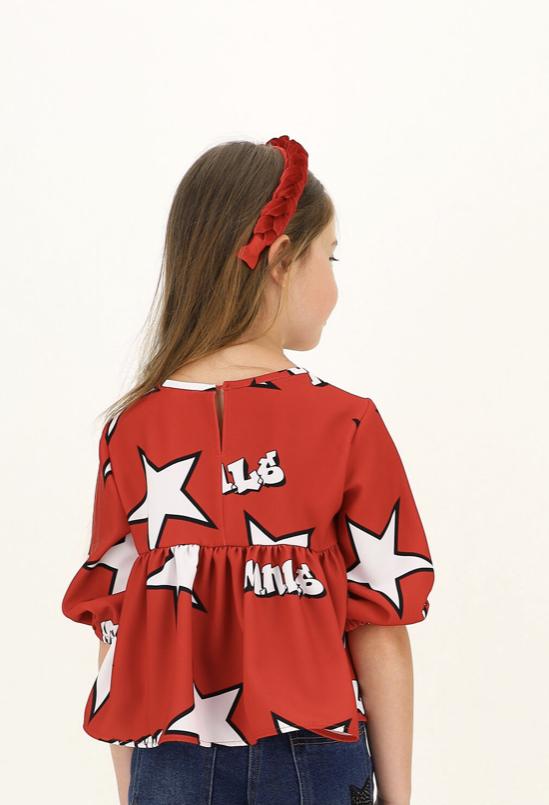 catálogo Monnalisa blusa roja estrellas