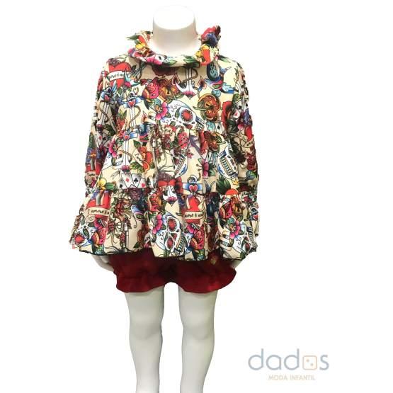 Bamboline colección Lemos conjunto blusa cuellos