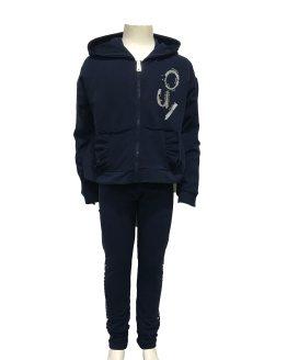 IDO conjunto legging y chaqueta azul marino