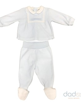 Tutto Piccolo traje felpa celeste 2 piezas