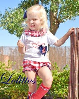 Catálogo Lolittos colección barquito camiseta con cubre niña