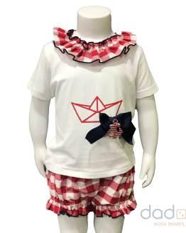 Lolittos colección barquito camiseta con cubre niña