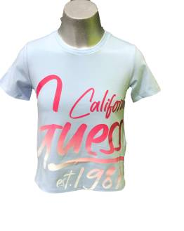 Guess camiseta chica celeste california