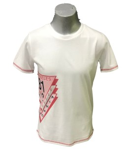 Guess camiseta chico blanca logo engomado lateral