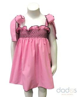 Mon Petit Bonbon vestido cuerpo elástico rosa