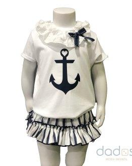 Lolittos colección Ibiza conjunto niña braga y camiseta