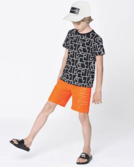 Karl Lagerfeld bañador chico naranja letras