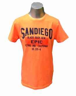 Petrol Camiseta chico naranja fluor San Diego