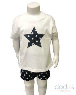 Cocote Conjunto niño azul marino estrellas