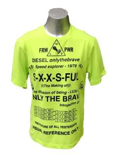Diesel camiseta chico lima fluor letras