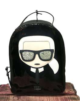 Karl Lagerfeld Mochila negra Ikonik