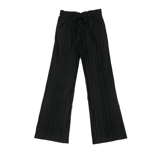 Elsy pantalón palazzo plisado negro