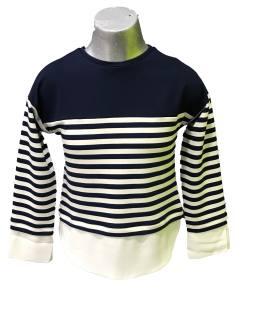 Elsy jersey chica rayas cruda y azul marino