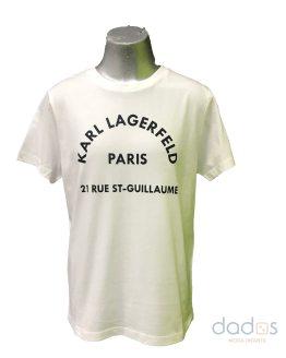 Karl Lagerfeld camiseta chico blanca logo letras