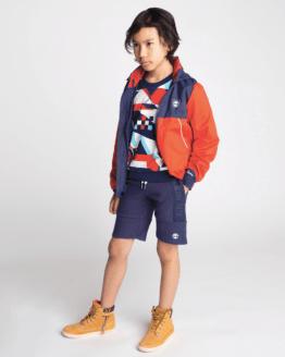 catálogo Timberland sudadera chico figuras multicolor