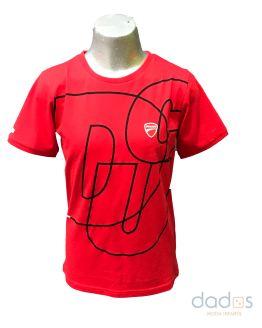 Sarabanda colección Ducati camiseta roja maxilogo