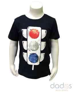 Ido camiseta niño azul navy semáforo