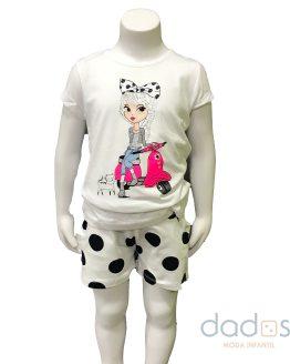 Ido conjunto niña short camiseta niña vespa
