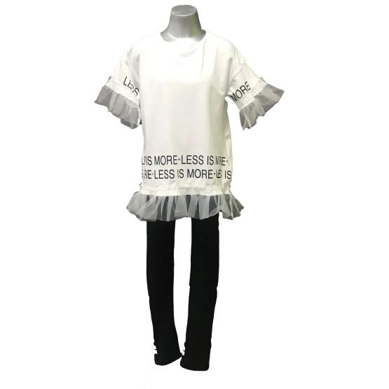 Ido conjunto chica camiseta blanca con tul