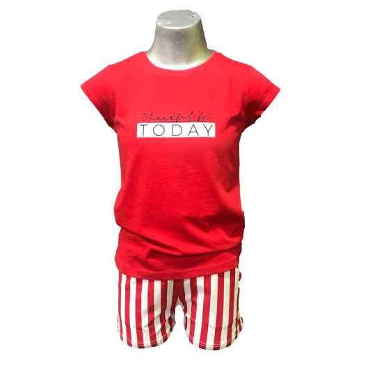 Ido conjunto short rayas camiseta Today