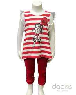 Sarabanda conjunto legging rojo camiseta rayas rojas