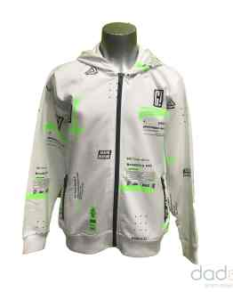 Ido chaqueta chico felpa blanca letras fluor