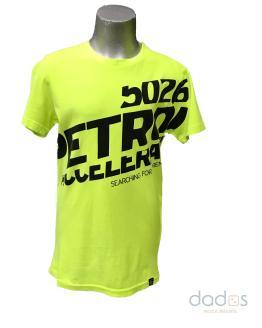 Petrol camiseta chico amarillo fluor letras negras