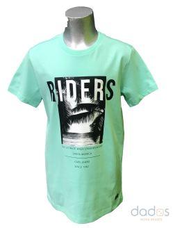 Cars Jeans camiseta verde palmeras algodón orgánico