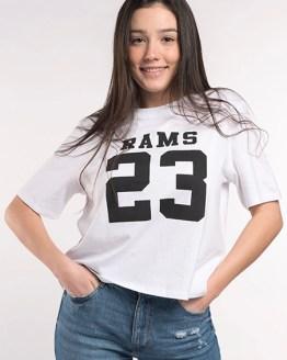Rams 23 camiseta chica Classic logo blanca catálogo