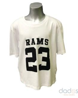 Rams 23 camiseta chica Classic logo blanca