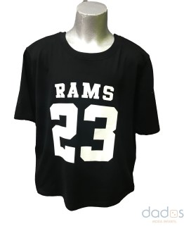 Rams 23 camiseta chica Classic logo negra