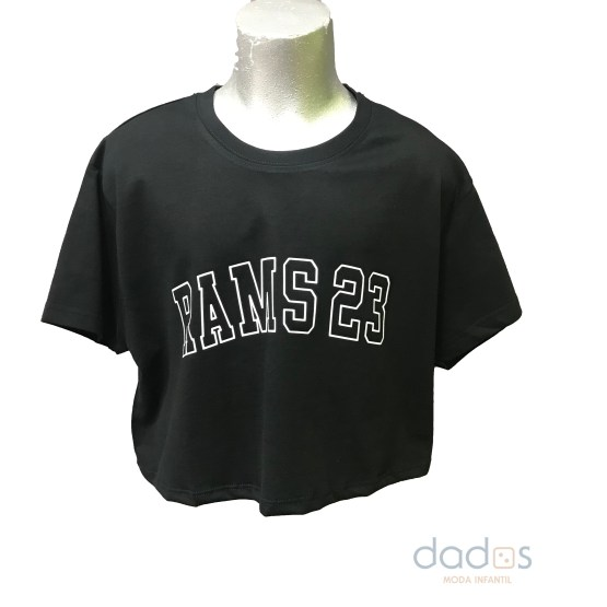 Rams 23 camiseta chica Silhoutte negra
