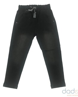 Ido pantalón niña denim stretch negro