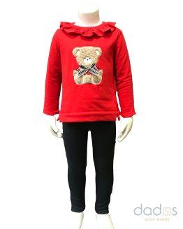 Coco Acqua conjunto niña legging y sudadera oso