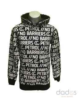 Petrol sudadera chico gris marengo letras