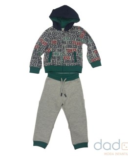 Guess conjunto felpa niño chaqueta letras multicolor